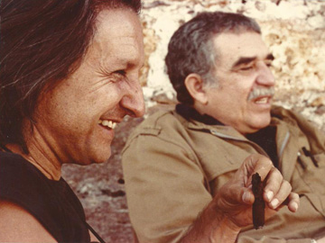 Ruy and Gabriel García Márquez, Cuba, on the first half of the 80´s
